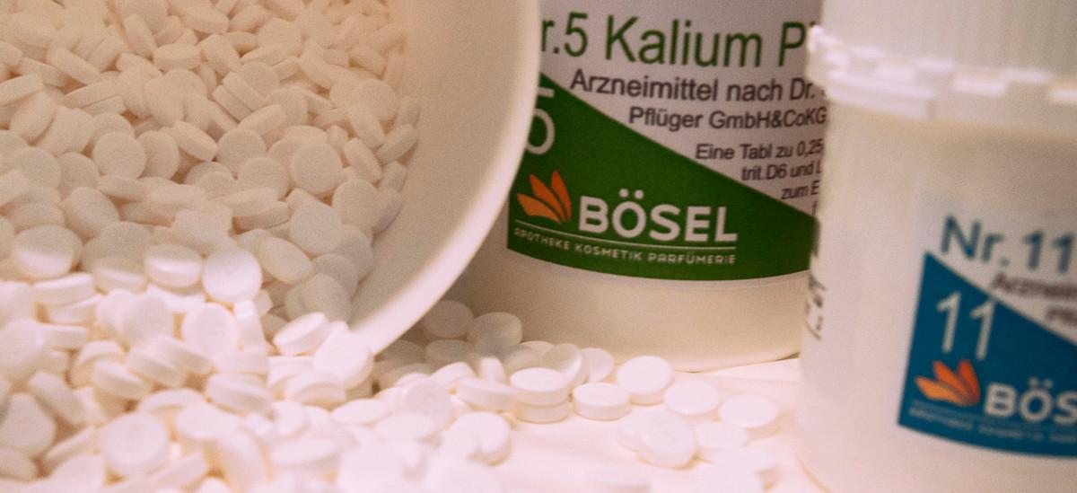 Eine Nahaufnahme von Tabletten
